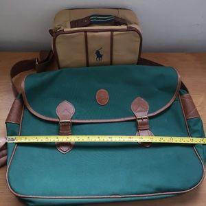Vtg Polo Ralph Lauren set bag